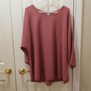 Avenue mauve sweater sz 22/24